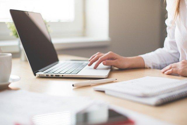 Notebook Work Girl Computer Woman